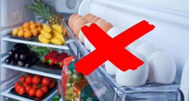 تحذير لا لتخزين البيض بباب الثلاجة