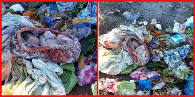 العثور على جثة رضيعة الولادة مرمية