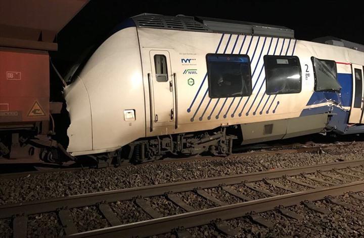 إصابة 50 شخصا في تصادم قطارين في ألمانيا