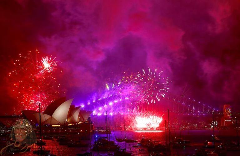 بالصور… أول احتفالات العام الجديد 2018 في مدينة سيدني الاسترالية