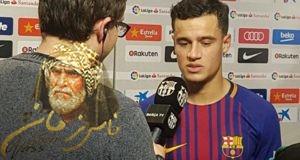 كوتينيو يتحدث بعد المشاركة الأولي له مع برشلونة