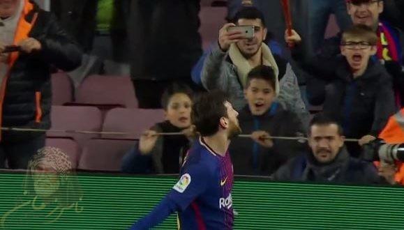 اهداف مباراة برشلونة وديبورتيفو ألافيس 2 1   شاشة كاملة ـ ميسي المنقد بهدف عالمي