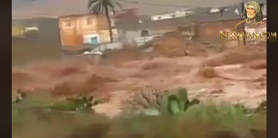 فيديو اخر للأمطار الطوفانية في مدينة ورقلة بالجزائر