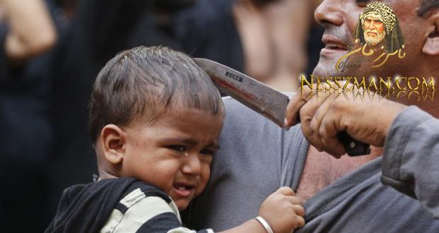 فيديو في عاشوراء شيعي ينحر طفله وسط تهليل الحضور