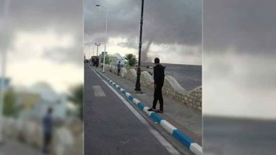 عاجل اعصار يتشكل و يقترب من جزيرة جربة منذ قليل
