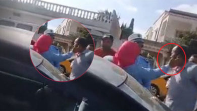 فيديو مساعد قضائي تصفع سائق تاكسي وتهدده