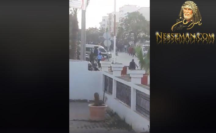 مباشر مرور جنازة ايمن من وسط سيدي حسين